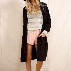 Urban Outfitters Linen Duster Jacket